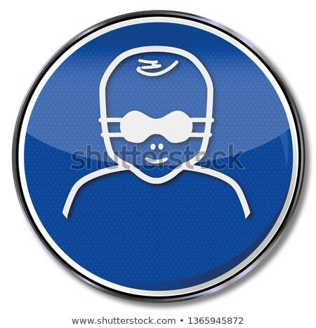 Obrigatório assinar crianças olho escudo Foto stock © Ustofre9