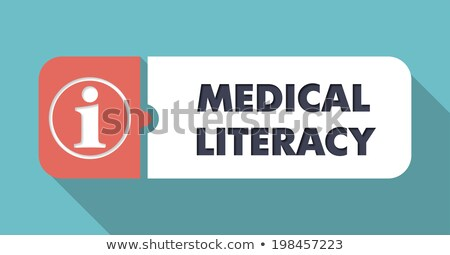 Medical Literacy on Blue in Flat Design. Stock photo © tashatuvango