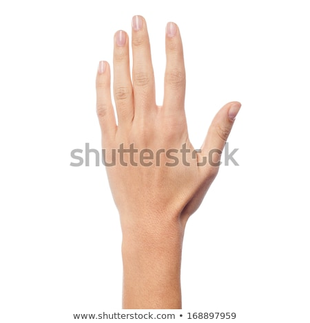 Woman hand showing five count Stock photo © stockyimages