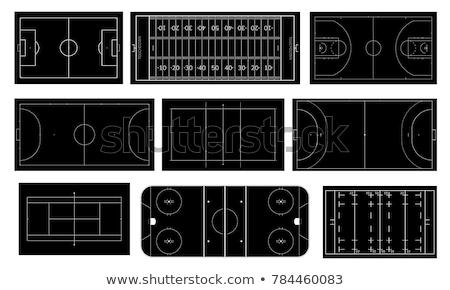 black-white football - vector illustration Stock photo © opicobello