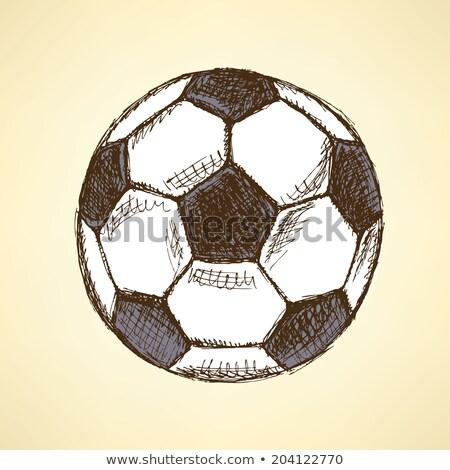 sketch football balll vector vintage background stock photo © kali
