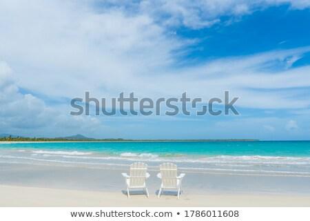 Krzesło plaży Hawana Kuba niebo wody Zdjęcia stock © bmonteny