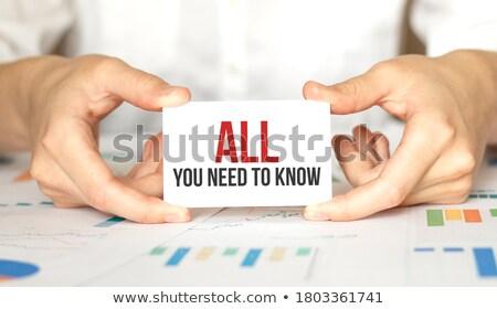 бизнеса · вопросе · маркетинга · профессиональных · клиентов - Сток-фото © stevanovicigor