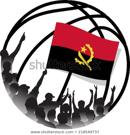 Ангола баскетбол флаг поверхность знак Сток-фото © Koufax73