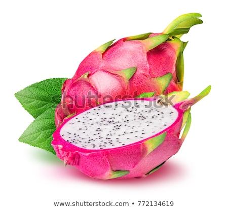 экзотический розовый дракон фрукты изолированный белый Сток-фото © Elisanth