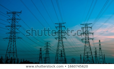 Electricity high voltage pylon Stock photo © tungphoto