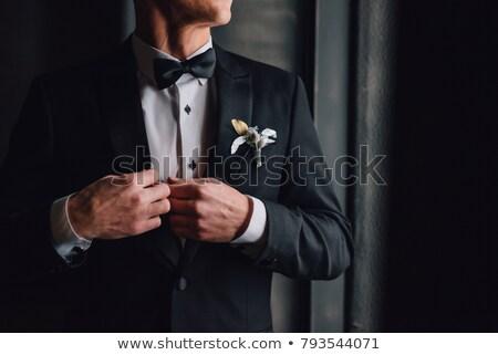 man in wedding suit Stock photo © PetrMalyshev