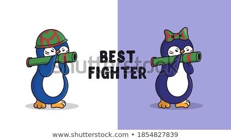 harcos · színesceruza · rajz · scan · férfi · vicces - stock fotó © animagistr