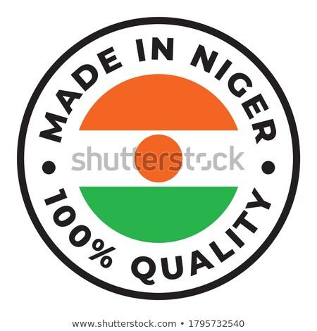 Niger pecsét felirat piros izolált fehér Stock fotó © tashatuvango