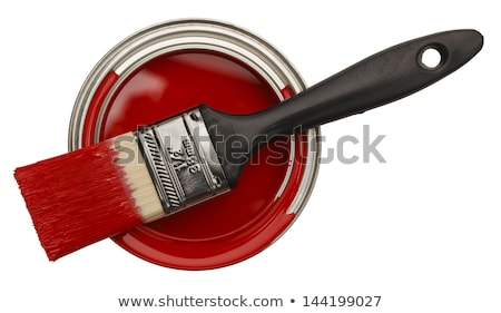 Red Paint can from above Stock photo © gemenacom