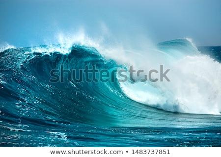 Tenger hullám közelgő égbolt víz természet Stock fotó © vrvalerian