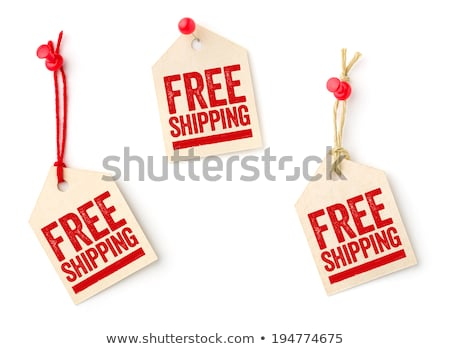 Paper note with text Free Shipping Stock photo © Zerbor