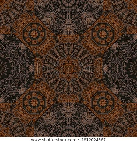 brown tiles   octagons with squares stock photo © tashatuvango