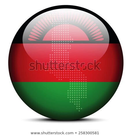 Map with Dot Pattern on flag button of  Malawi Stock photo © Istanbul2009