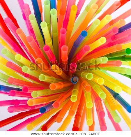 Multi Color flexible straws Stock photo © ozaiachin