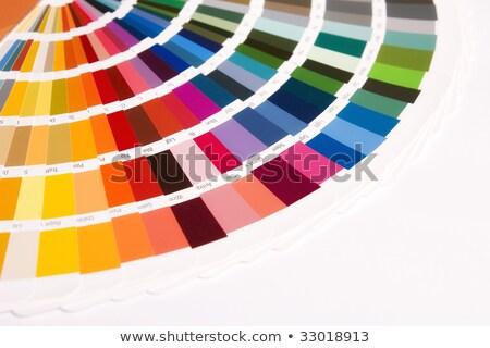 Minta színek iktatókönyv nyitva nyomtatott fekete Stock fotó © Mikko