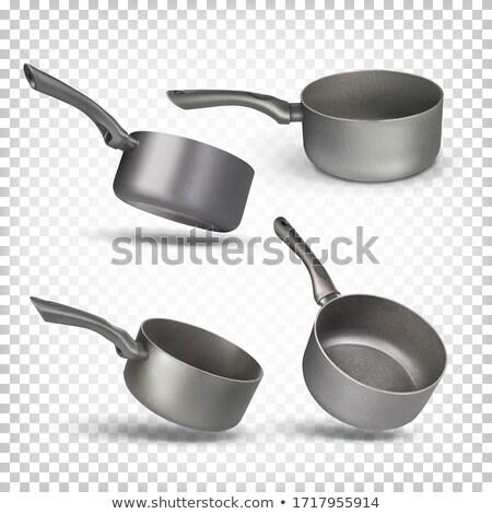 Pollepel hand geïsoleerd witte achtergrond keuken Stockfoto © supersaiyan3
