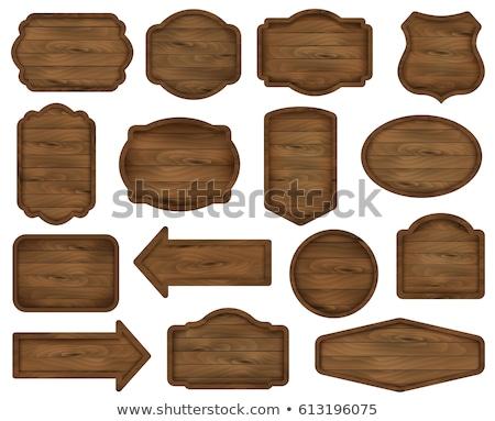 Photo stock: Réduction · vente · prix · tag · étiquette · bois