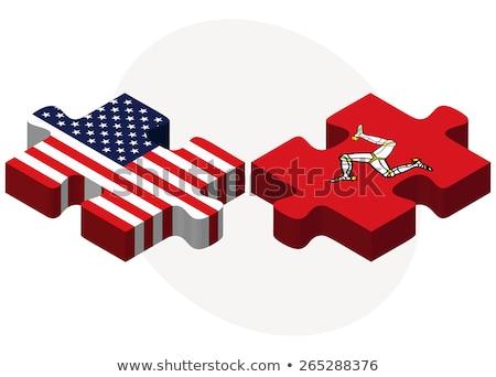USA man vlaggen puzzel vector afbeelding Stockfoto © Istanbul2009