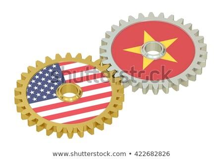 ABD Vietnam bayraklar bilmece vektör görüntü Stok fotoğraf © Istanbul2009