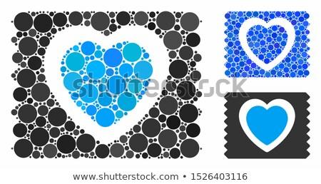 óvszer kicsi méret ikon szex gyógyszer Stock fotó © tkacchuk