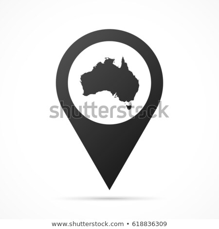 Conceptual map outline of Australia and Tasmania Stock photo © ozgur