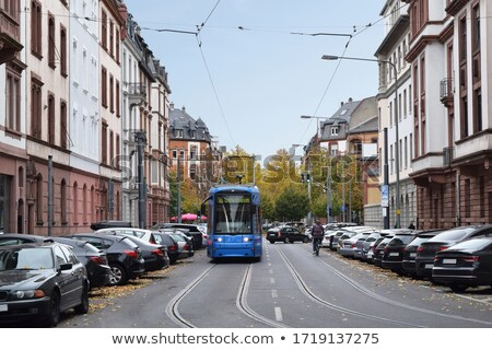 Frankfurt calle mayor tranvía 14 2014 Foto stock © AndreyKr