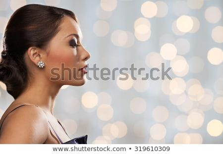 side view of a gorgeous elegant fashion woman stock photo © feedough