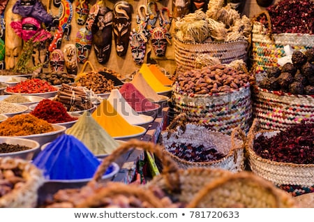 indian colored spices at local market stock photo © ziprashantzi