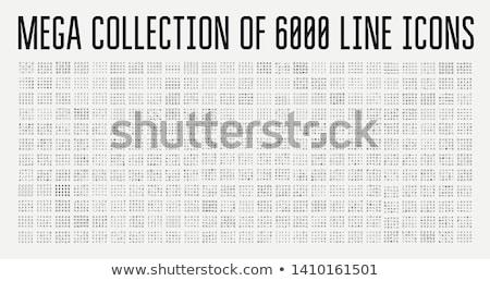 Moderne financiële ingesteld gestileerde iconen Stockfoto © vectorikart