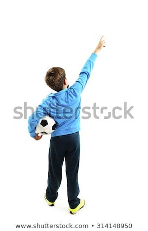 Sportos futballista felfelé néz fehér futball sport Stock fotó © wavebreak_media