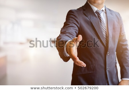Portret glimlachend zakenman aanbieden handdruk witte Stockfoto © wavebreak_media