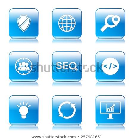 seo · Internetu · podpisania · placu · wektora · niebieski - zdjęcia stock © rizwanali3d