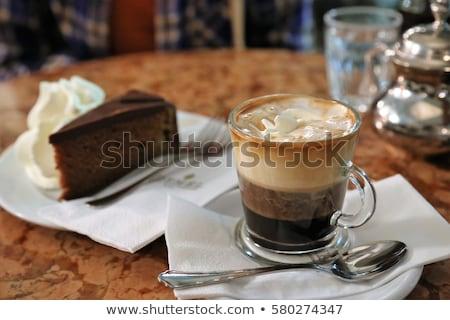 slagroom · foto · heerlijk · koffie · koffiebonen - stockfoto © lighthunter