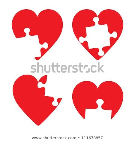 œuvre de bienfaisance puzzle lieu manquant pièces texte Photo stock © tashatuvango