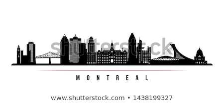 Old and new buildings in Montreal downtown Stock photo © aladin66