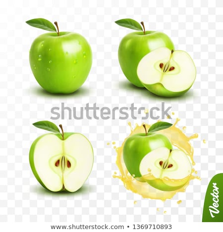 verde · maçã · morder · isolado · branco - foto stock © szefei
