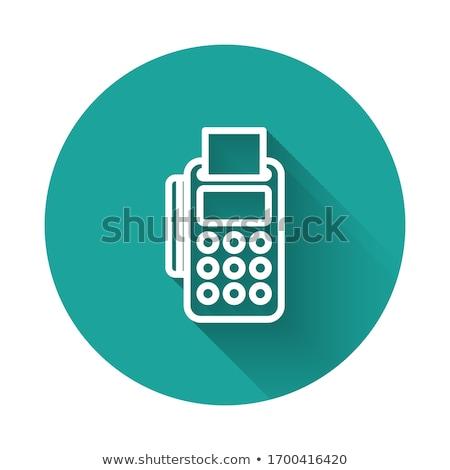 NFC Sign Green Vector Icon Design Stock photo © rizwanali3d