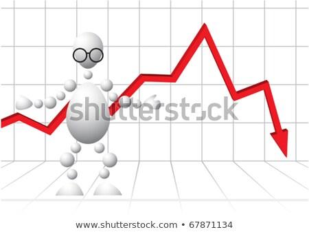 Homem óculos vermelho gráfico fundo abstrato Foto stock © boroda