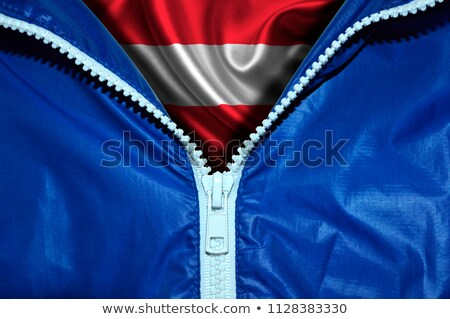 Autriche pavillon zipper bleu design espace Photo stock © fuzzbones0