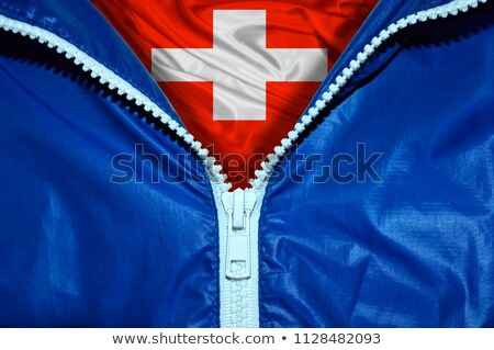 Swiss flag under zipper Stock photo © fuzzbones0