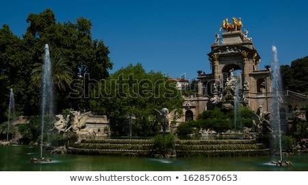 Park Barcelona İspanya su ağaç göz Stok fotoğraf © vichie81