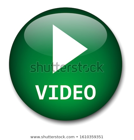 Сток-фото: щелчок · вектора · зеленый · значок · кнопки