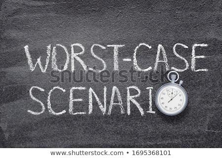 Time for Solutions Handwritten on Chalkboard. Stock photo © tashatuvango
