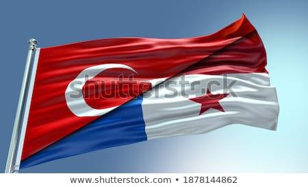 Turkey and Panama Flags Stock photo © Istanbul2009