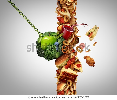Gezondheid dieet voeding vork groene Stockfoto © Lightsource