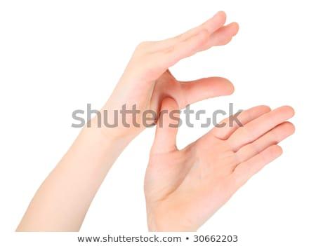 Stok fotoğraf: Eller · mektup · harfler · İngilizce · alfabe · okul