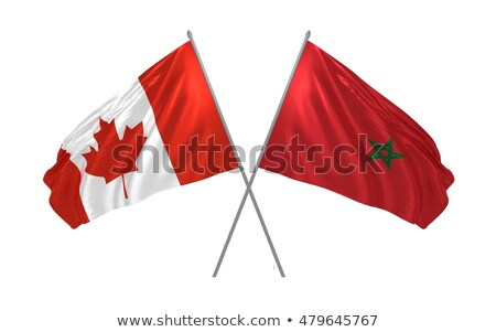 Canadá Marruecos banderas rompecabezas aislado blanco Foto stock © Istanbul2009