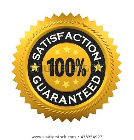 elégedettség · garantált · címke · üzlet · terv · csillag - stock fotó © huseyinbas