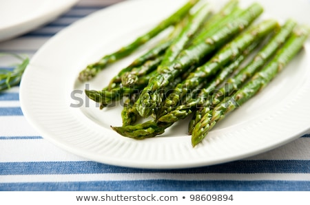 Steamed asparagus Stock photo © shutswis